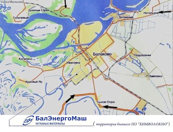 Схема проезда к ООО Балэнергомаш - современный завод нетканых материалов