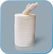 Сухие салфетки в рулоне из нетканого полотна